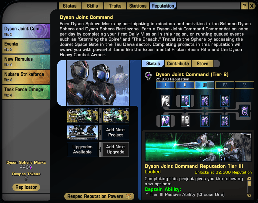 Reputation system sto academy for Star trek online crafting leveling guide