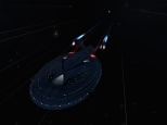 U.S.S. Missouri in high warp<br>Submitted By jhall124